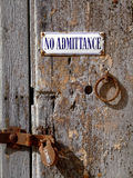 Old Padlocked Door Stock Photo