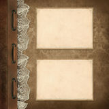 Vintage background, page family album Royalty Free Stock Image