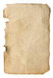 Old page from a book. Isolated on white background stock images