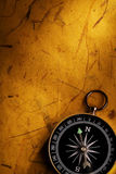 Old Page and Compass Stock Photo