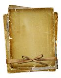 Old page with ribbons and bow Royalty Free Stock Photo