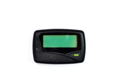 Old  pager. Old pager on white background Stock Image