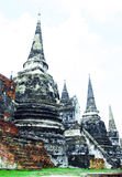 Old pagoda. Pagoda old Ayutthaya period. Current destinations of Thailand Royalty Free Stock Images