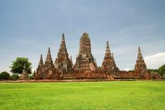 The old  pagoda. At Chai Watthanaram Temple,Ayutthaya,Thailand Royalty Free Stock Photos