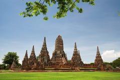 The old  pagoda. At Chai Watthanaram Temple,Ayutthaya,Thailand Stock Photo
