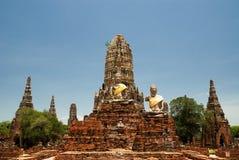 The old  pagoda. The old pagoda at Chai Watthanaram Temple,Ayutthaya,Thailand Royalty Free Stock Photo