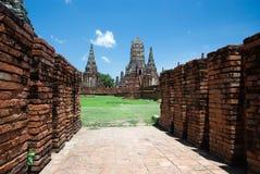 The old  pagoda. The old pagoda at Chai Watthanaram Temple,Ayutthaya,Thailand Stock Photos