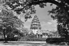Old pagoda. In black and white infrared Stock Photos