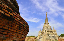 Old Pagoda. The old temple of thailand Royalty Free Stock Photo
