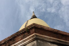 old pagoda  in  AYUTHAYA  THAILAND Royalty Free Stock Photos