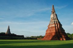 Old pagoda at Ayutthaya in Thailand Stock Photography