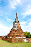 Old Pagoda at ayutthaya, thailand.  Stock Images
