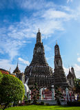 Old pagoda. Beautiful pagoda in old temple and blue sky Stock Image
