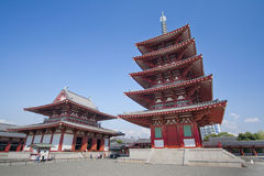Old Pagoda in the Blue Sky Stock Image