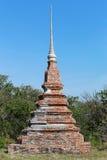 Old Pagoda of Buddhism on big hill in Ko Si Chang Island Chonbur Stock Image