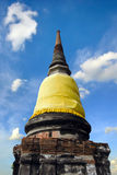 Old pagoda with cloudy sky in Thailand Royalty Free Stock Photography