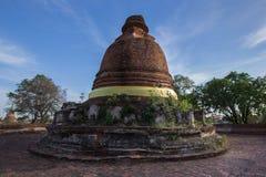 The old Pagoda at  Maheyong Temple in Ayutthaya , thailand. Wat Maheyong, Ancient temple and monument in Ayutthaya , Thailand Stock Images