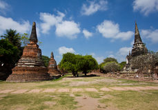 The old Pagoda palace at Wat Phra Sri Sanphet Stock Images