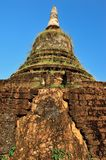 Old pagoda in Srisatchanalai Royalty Free Stock Images