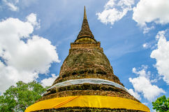 Old pagoda in sukhothai historical Stock Photo