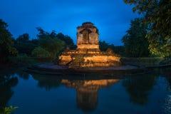 Old pagoda temple of buddhism,Wat koh klang in lamphun, Thailand Royalty Free Stock Photo