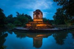 Old pagoda temple of buddhism,Wat koh klang in lamphun, Thailand Royalty Free Stock Image