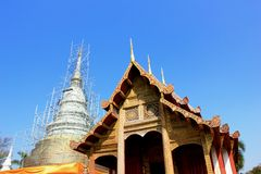 Old pagoda and temple in Chiang Mai, Thailand Royalty Free Stock Images