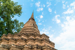 Old pagoda in the temple at Sukhothai Historical Park Stock Image