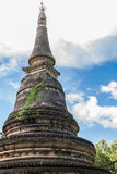 Old pagoda. In temple, Thailand Stock Photography