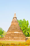 Pagoda at the Thai temple, Thailand. Old pagoda at the Thai temple, Khonkaen Thailand, Buddha church at the Thai temple style Stock Photo