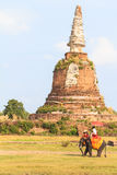 Old pagoda in Thailand. Royalty Free Stock Images