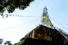 Old pagoda in Thailand stock images