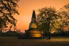 Old pagoda in the twilight time Royalty Free Stock Photos