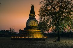 Old pagoda in the twilight time Stock Photography