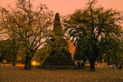 Old pagoda in the twilight time Stock Images