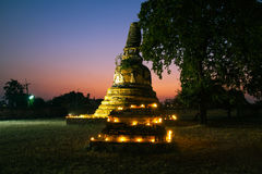 Old pagoda in the twilight time Stock Photo