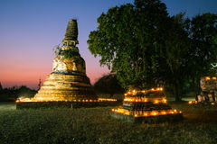 Old pagoda in the twilight time Royalty Free Stock Photography
