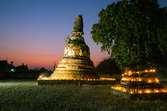 Old pagoda in the twilight time Royalty Free Stock Image
