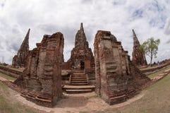 The old pagoda wat Chaiwatthanaram, Ayutthaya, Thailand. Royalty Free Stock Photo