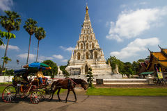 Old Pagoda in Wat Chedi Liam at Wiang Kum Kam, Chiang Mai. Old travel art thailand buddhist sky Royalty Free Stock Photos