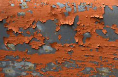 Old paint. Red structure of the old cracked paint royalty free stock photos