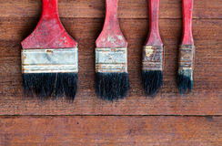 Old paint brushes Stock Photos