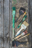 Old paint brushes Royalty Free Stock Photography