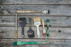 Old paint brushes Royalty Free Stock Image