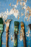Old paint brushes Royalty Free Stock Photos