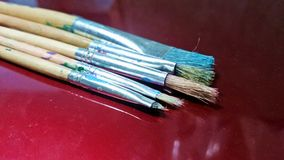 Old paint brushes Stock Photography