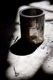 Old paint bucket Stock Images