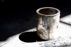 Old paint bucket Stock Photography