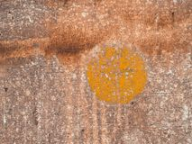 Old paint on the floor metal corroded texture Royalty Free Stock Photo