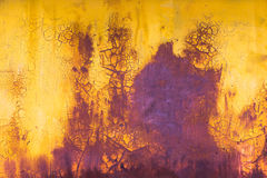 Old paint horizontal background yellow and purple Stock Images